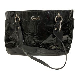 Coach Gallery Embossed Patent Leather Bag